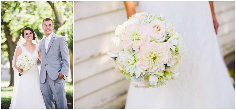 wedding bouquet, ivory and light pink