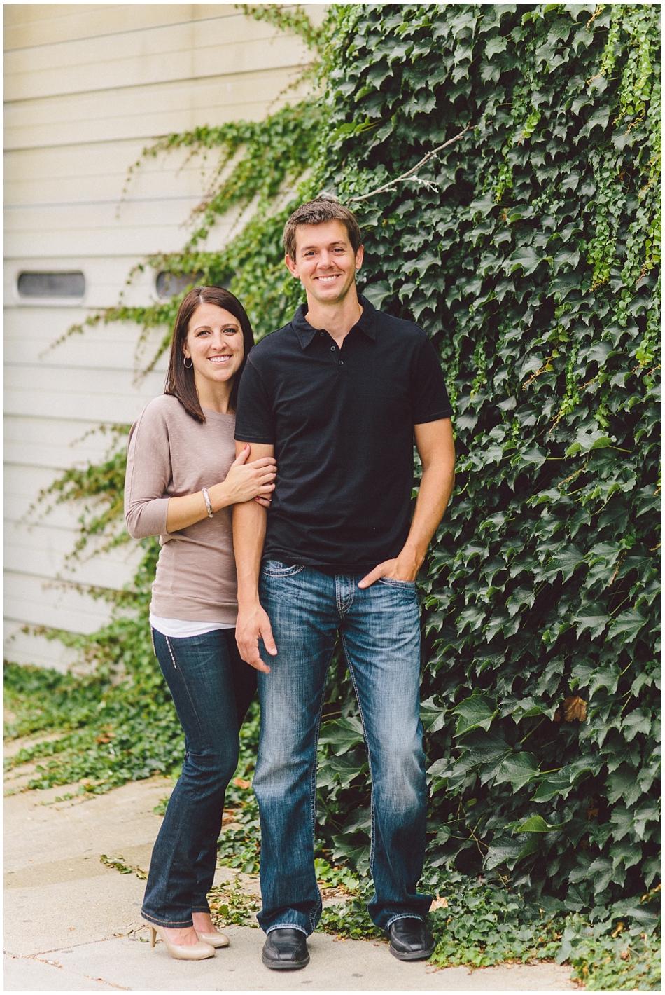 Cute couple in Old Market Omaha, Nebraska