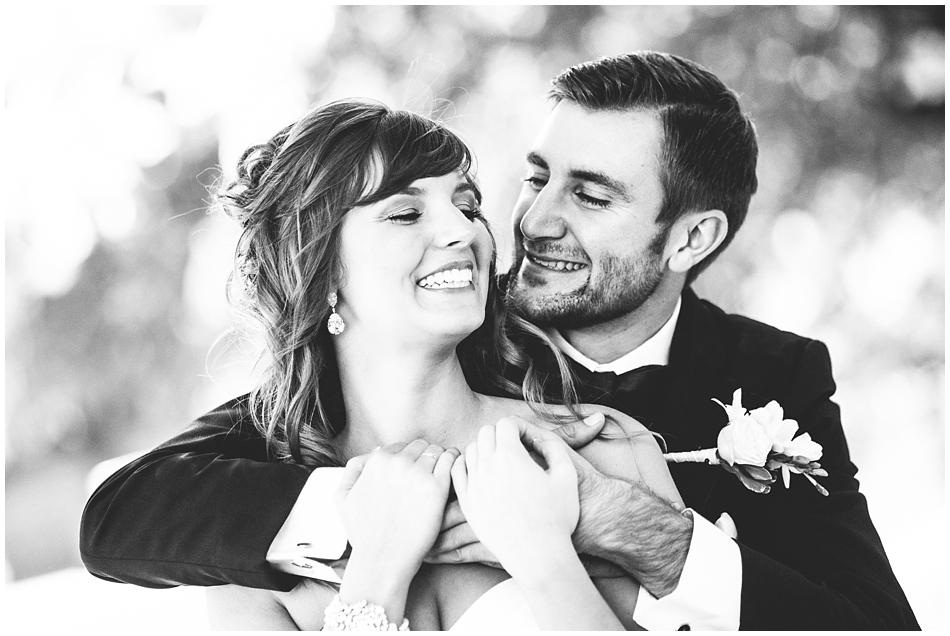 Omaha wedding photography, Amanda Kohler Photography, groom and bride in black and white