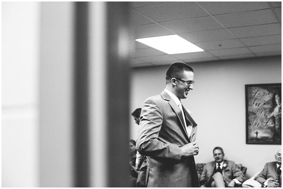 groom getting ready at St. John Vianney, Omaha Nebraska