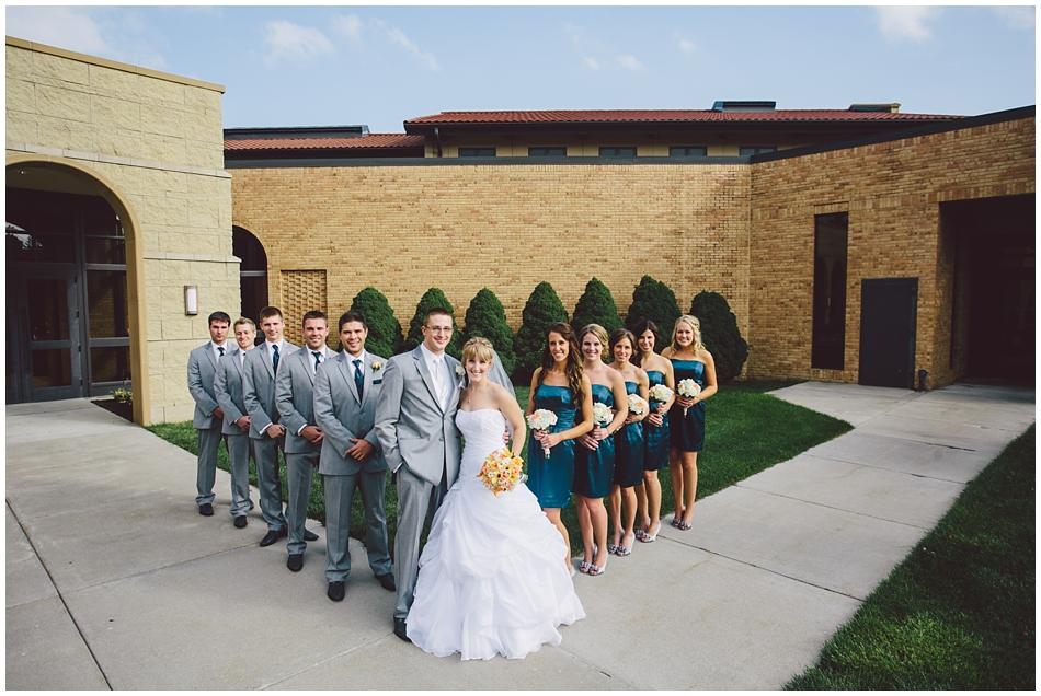 wedding party St. John Vianney, Omaha