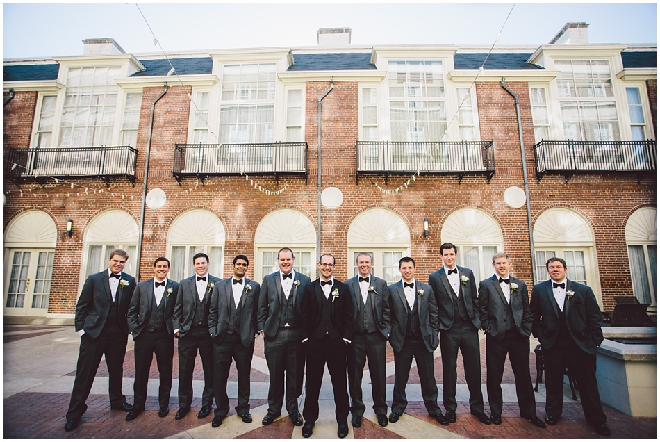 Groomsmen at Magnolia hotel