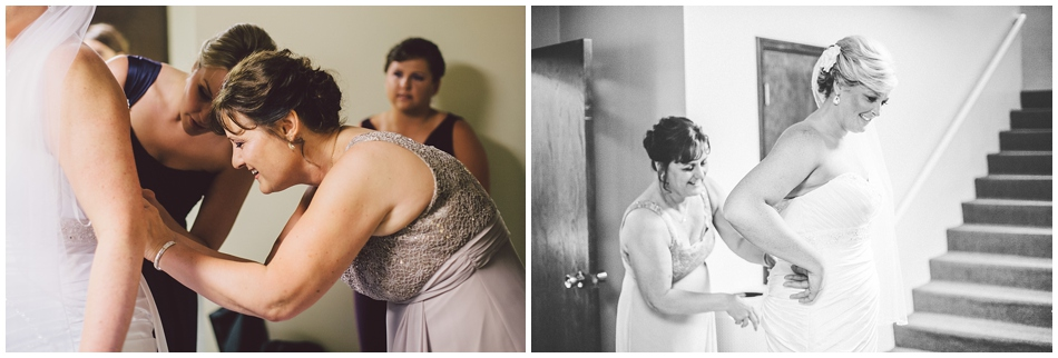 Bride getting ready at st. margaret mary church omaha, ne