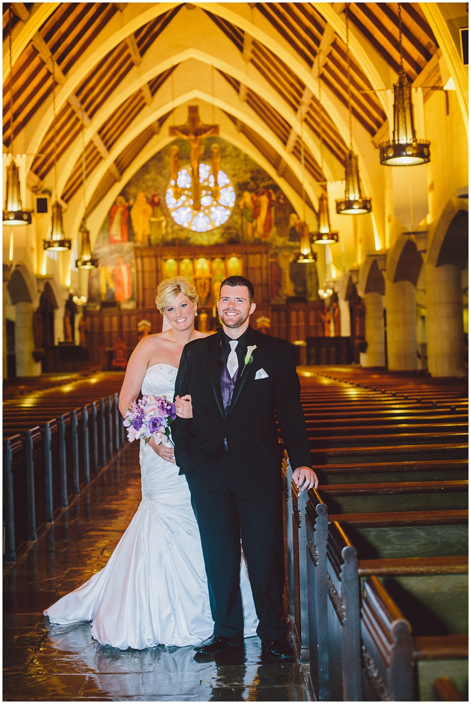 Formal wedding photo at st. margaret mary church omaha, ne
