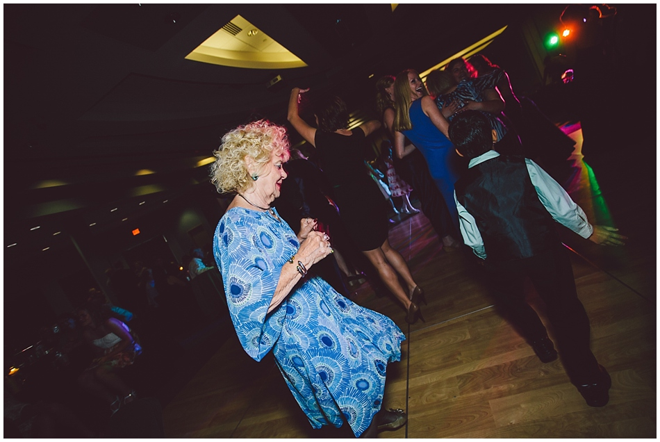 Grandma on the dance floor at Scott Conference Center Omaha, NE wedding reception