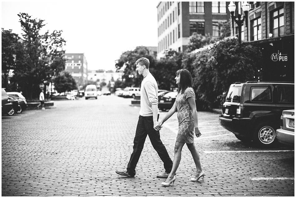downtown Omaha engagement photos
