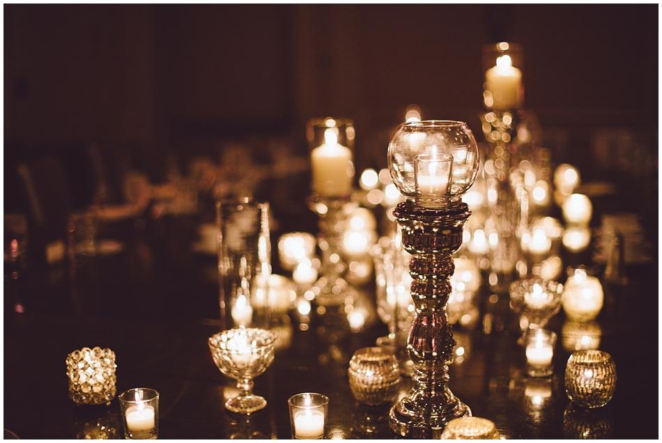 Marriott Regency Omaha, NE  Wedding, candle centerpieces