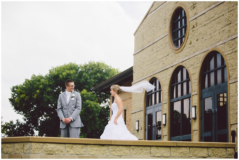 First look at St. John Vianney, Omaha, Nebraska wedding photography