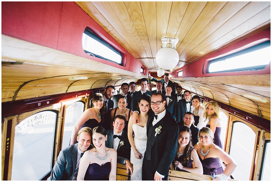 wedding party on Olley the Trolley