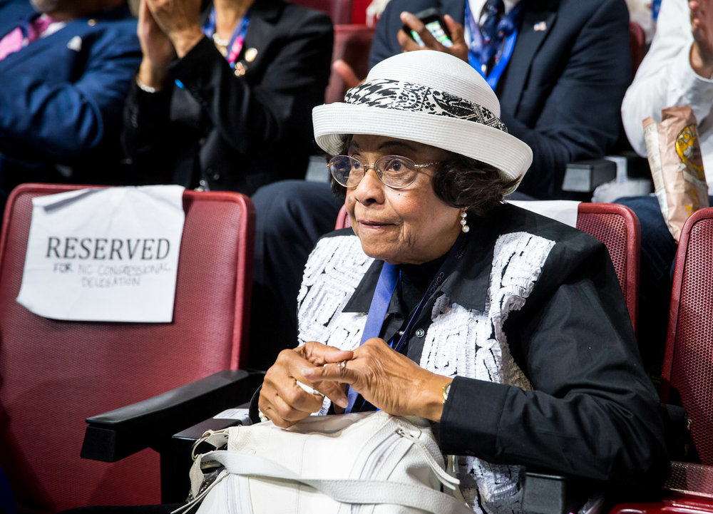 A delegate sits during the 2016 Democratic National Convention in Philadelphia, PA. Photo for the Democratic National Convention