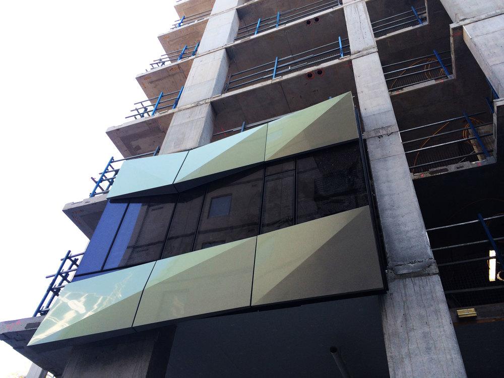 fulton lane facade installation