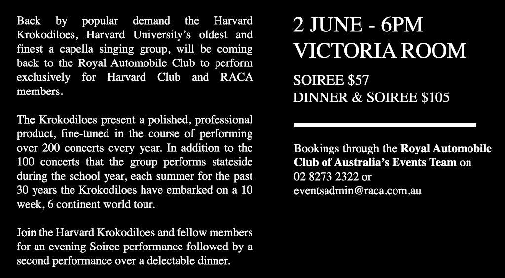 Whats on harvard club of australia kroks2018g fandeluxe Gallery