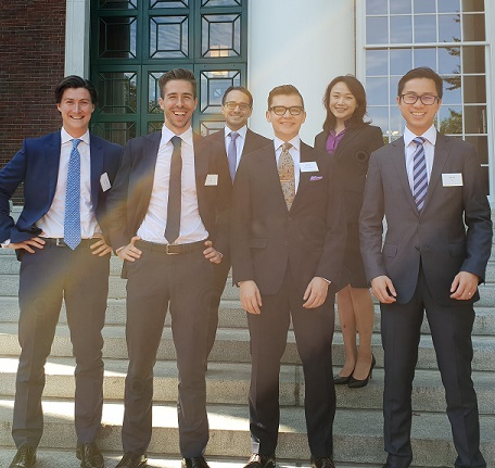 (L-R, Connor Taylor, Ed Arthy, Andrew Goldberg, Oliver Badenhorst, Zhuo Li, Derek Yu).