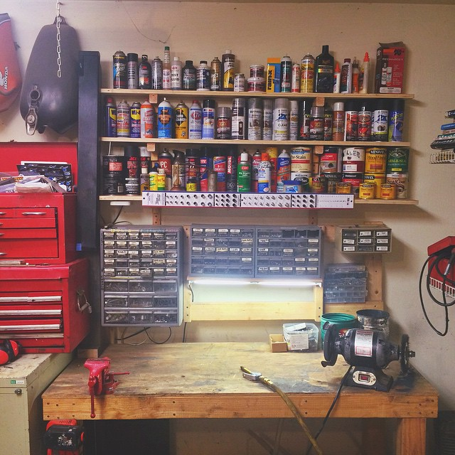 I like my garage's workbench like I like my folder structure.