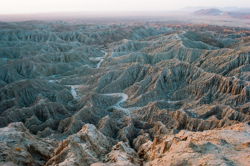 The Borrego Badlands in Anza-Borrego Desert State Park