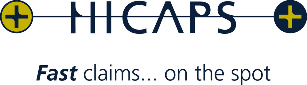 HICAPS Fast claims, on the spot, logo