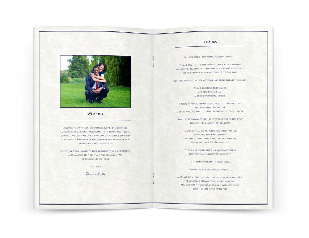 Tamara Wedding Programme Page 1.jpg