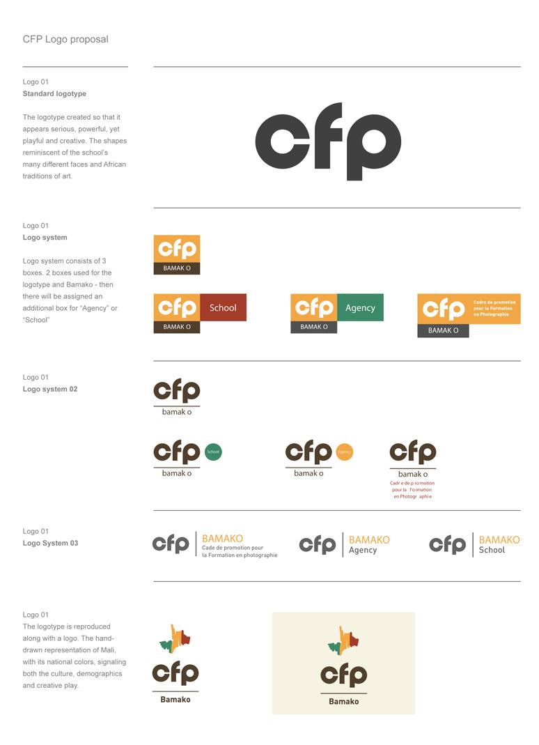 Commerce and Culture; Development of the new logo for Cadre de Promotion pour la Formation en Photographie.