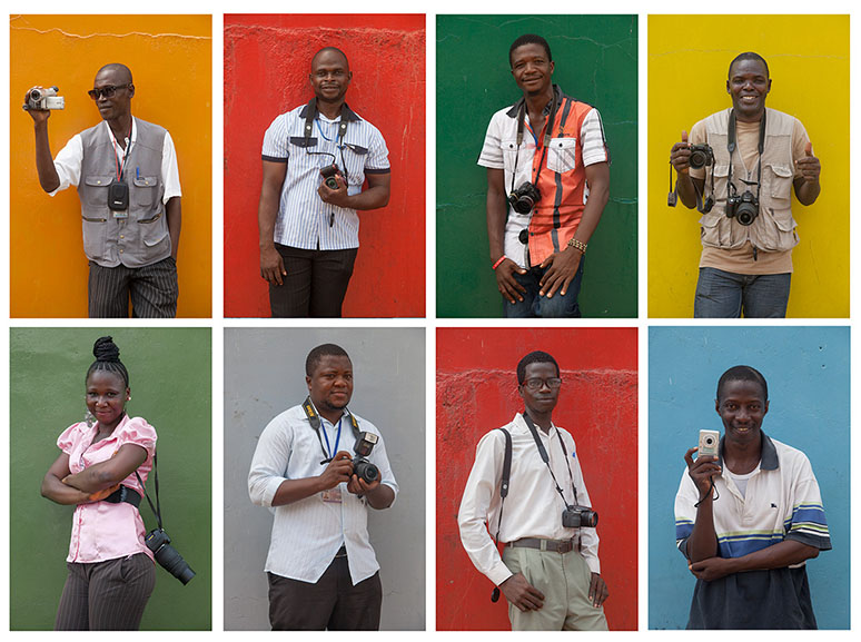A few of the 25 Sierra Leone photographers that are participating in the workshop Commerce & Culture are conducting in Freetown.
