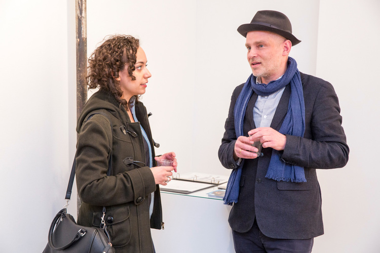 commerce-and-culture-afghan-tales-opening-night-munch-gallery-partner-thomas-damgaard-talking-woman.jpg