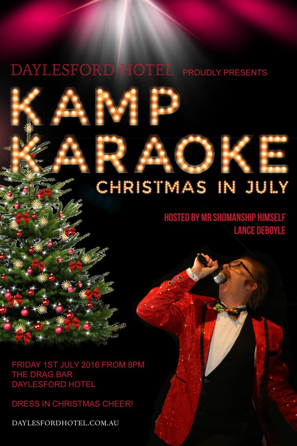 Kamp Karaoke - Christmas in July — Daylesford Hotel