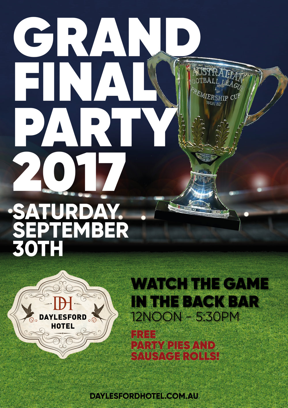 AFL Grand Final Party at Daylesford Hotel