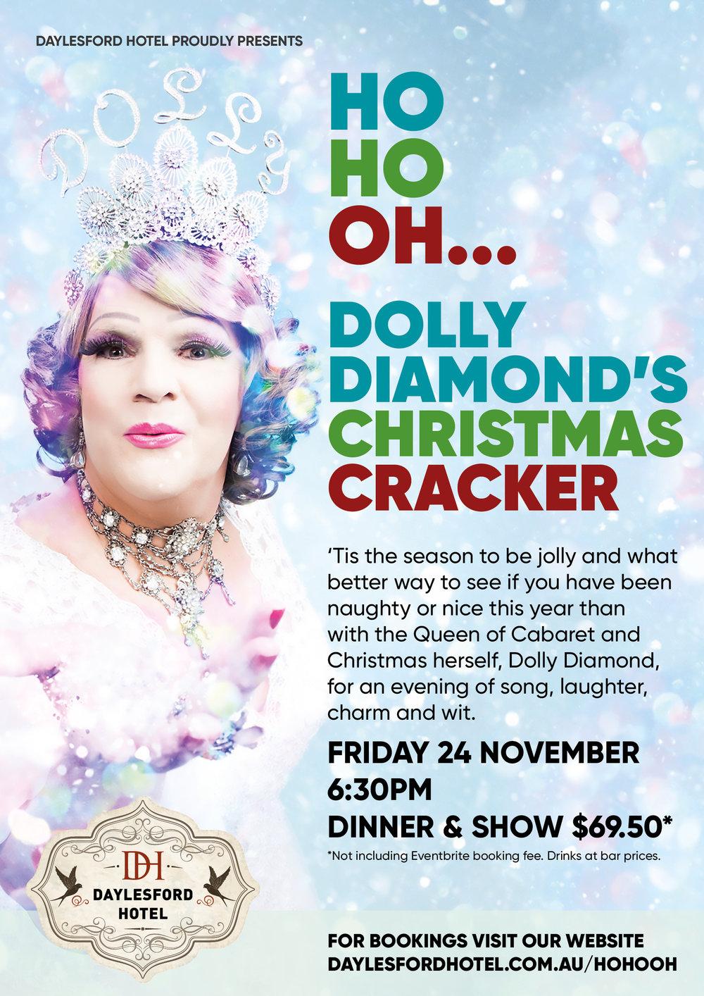 Dolly Diamonds Christmas Cracker at Daylesford Hotel