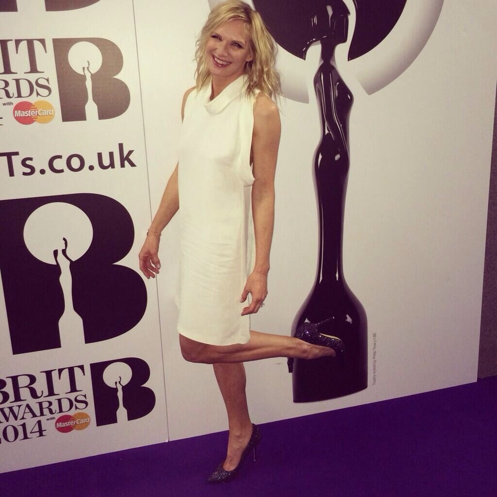 Jo Whiley at the Brits styled by Ellie Lines
