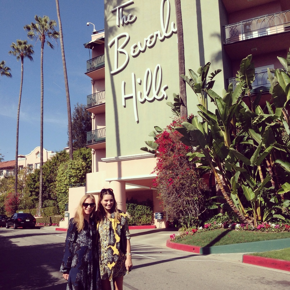 Ellie Lines outside The Beverly Hills Hotel Los Angeles