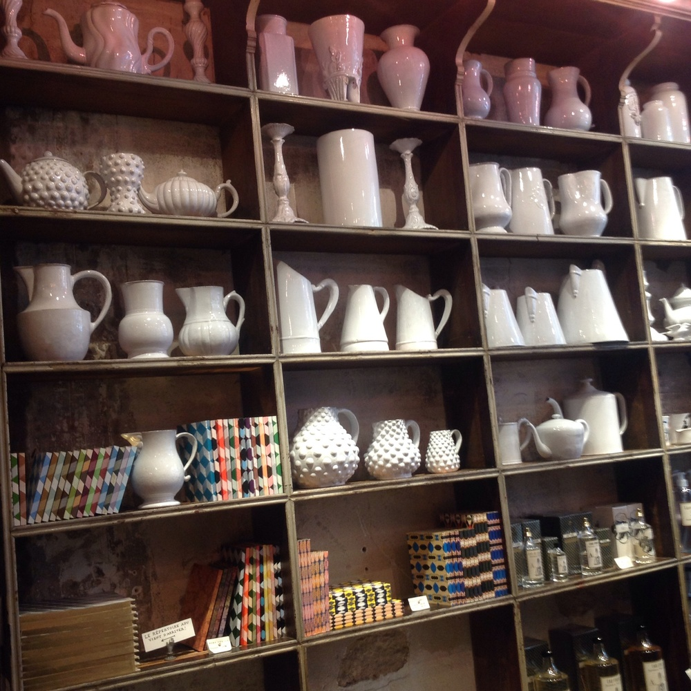 Inside Astier de Villatte ceramics shop in Paris