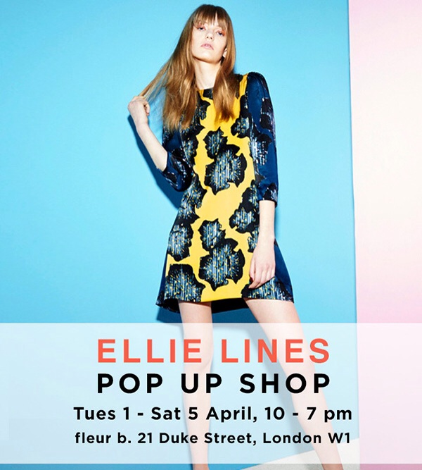 Advert for Ellie Lines Pop Up Shop