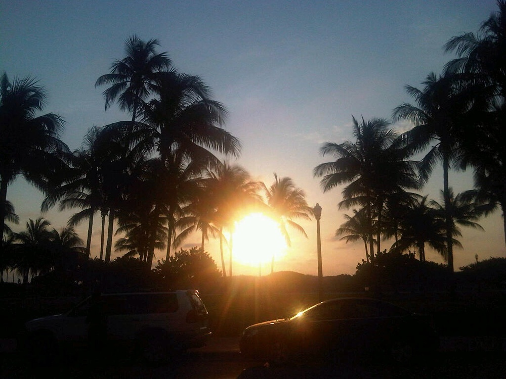 Sunset in Miami Florida