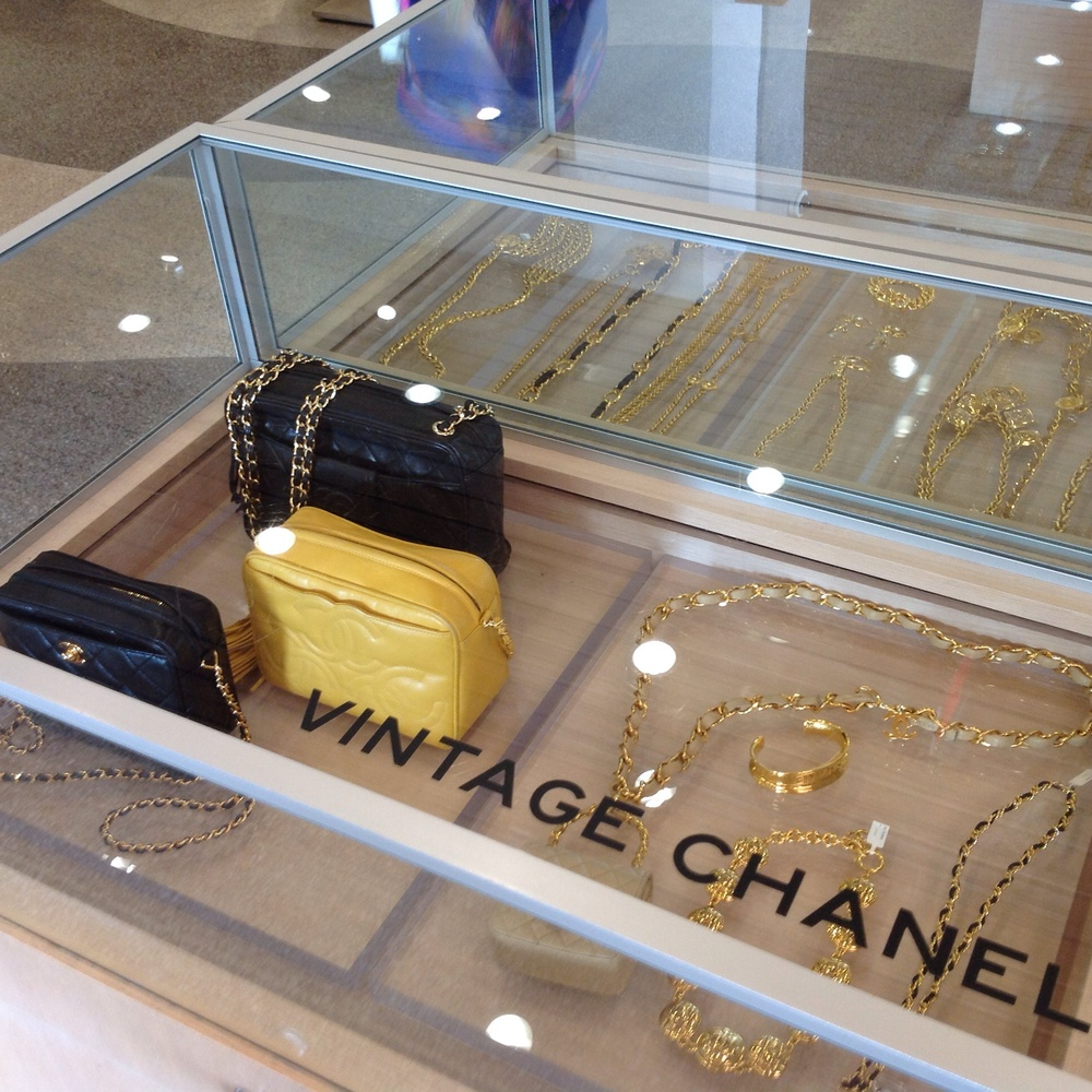 Vintage Chanel accessories in Atrium on Collins, Miami