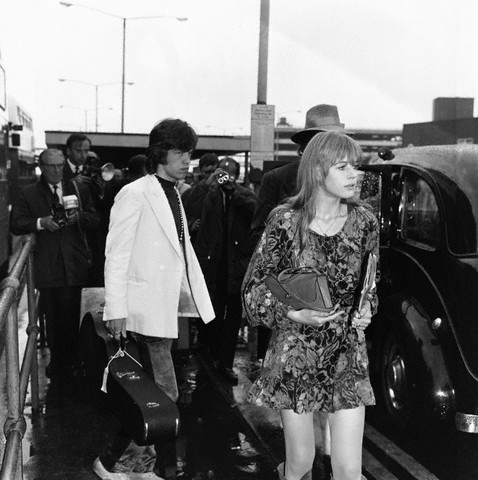 Marianne Faithful and Mick Jagger
