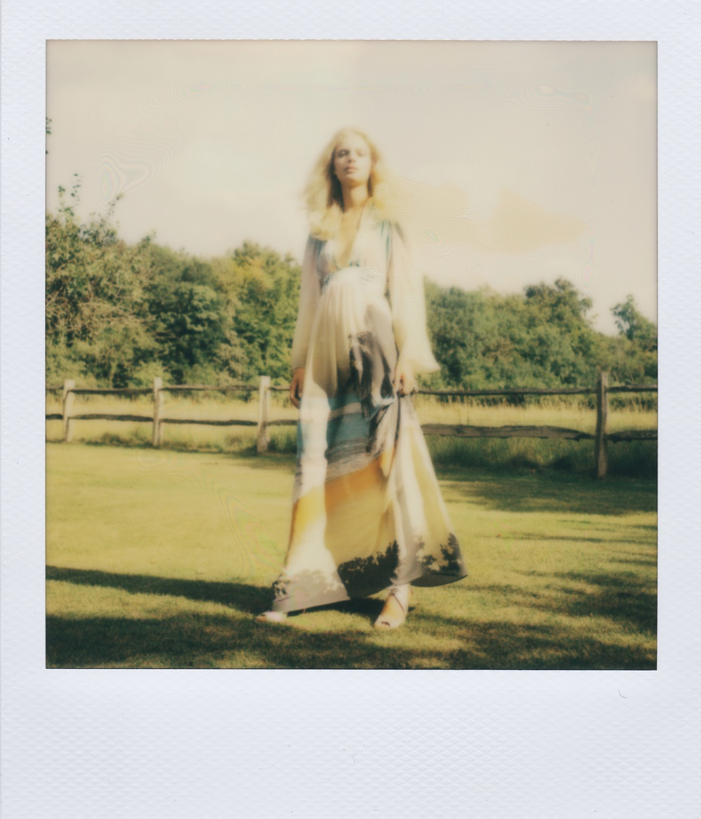 Polaroid photo - Fashion designer Ellie Lines' maxi dress