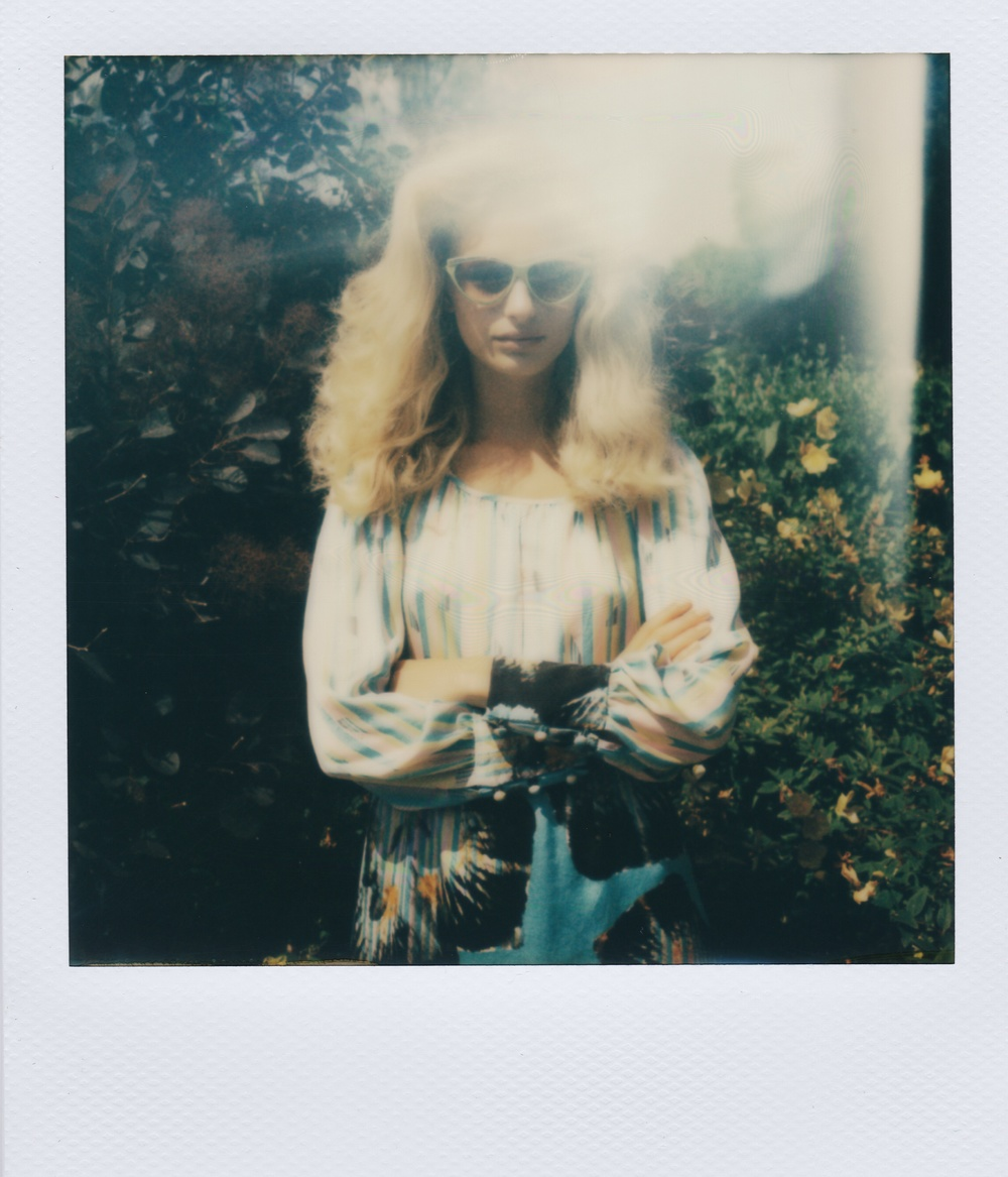 Polaroid from Ellie Lines' fashion shoot for SS15