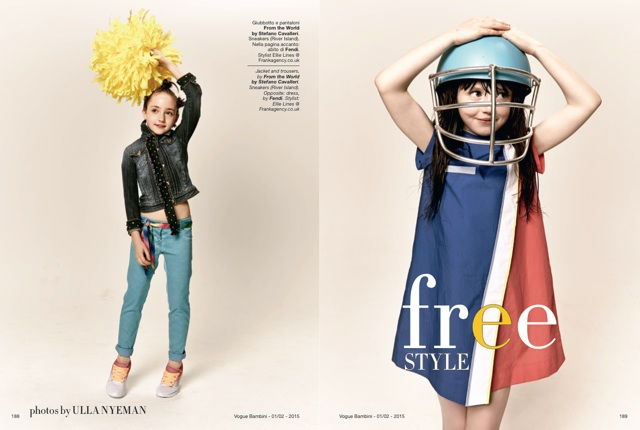 Fashion Shoot for Vogue Bambini styled by London Stylist Ellie Lines