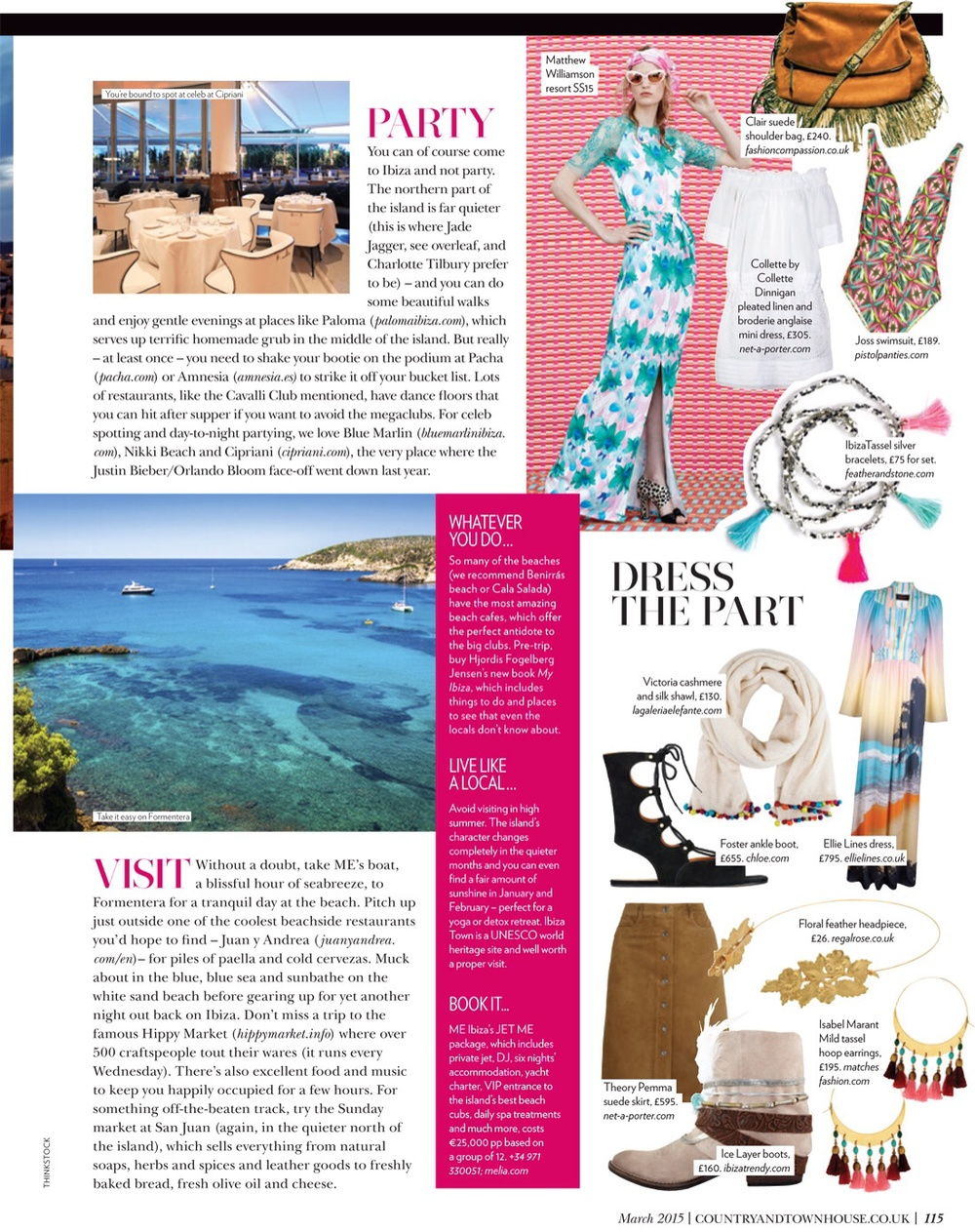 Country & Townhouse Magazine Feature include Ellie Lines' Ellie maxi dress