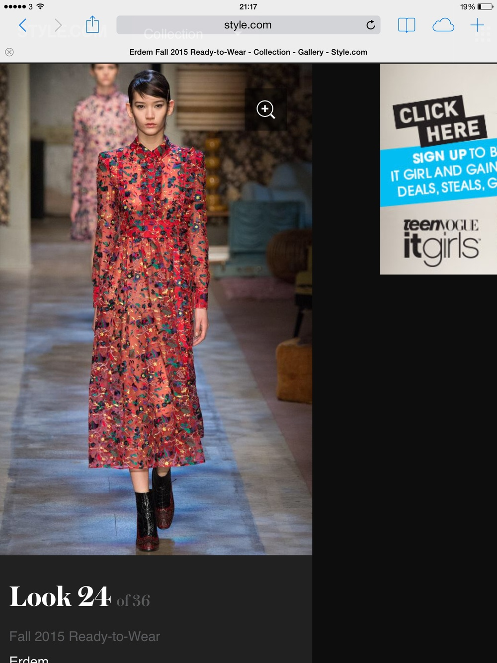 Fashion Designer Erdem on the catwalk from style.com