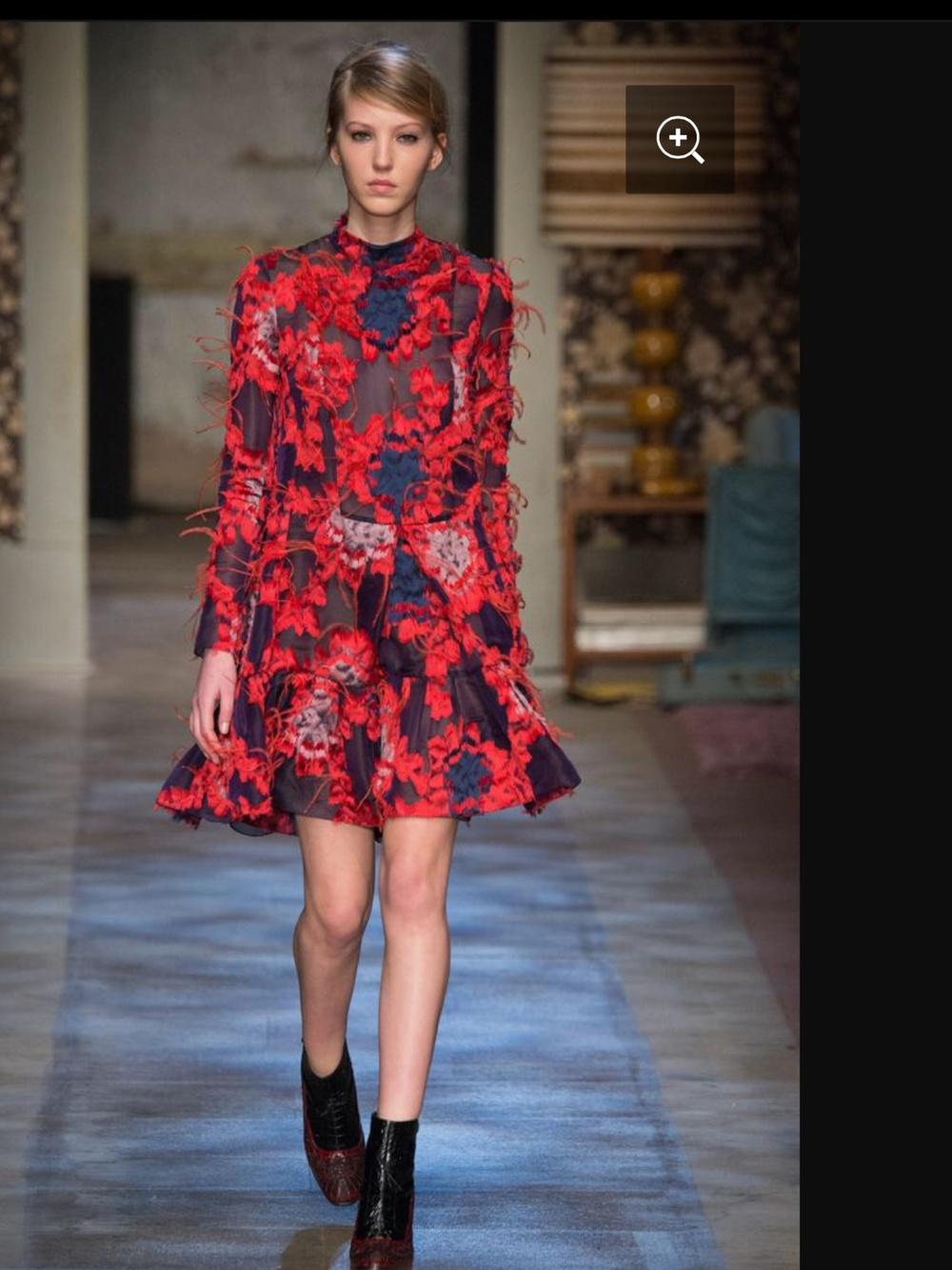Fashion Designer Erdem on the catwalk