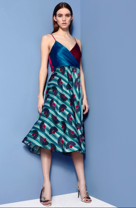 Fashion Designer Ellie Lines AW15 Collection - Carly silk party dress