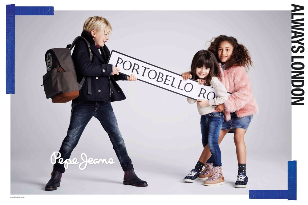 Pepe Jeans Kids campaign styled by Ellie Lines, London Stylist