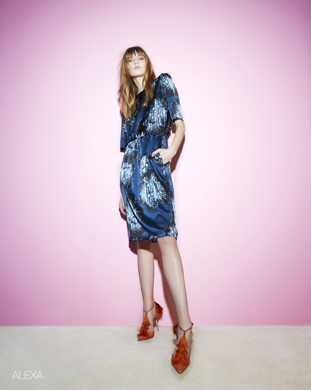 London Stylist Ellie Lines Moonshine Collection Silk Dress