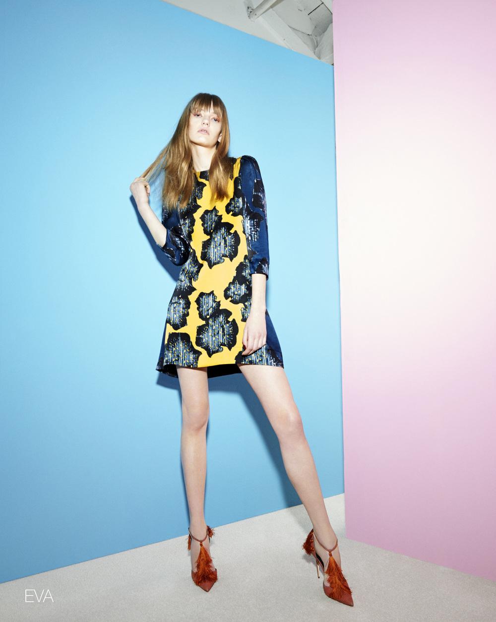 EVA SUNSHINE PRINT DRESS