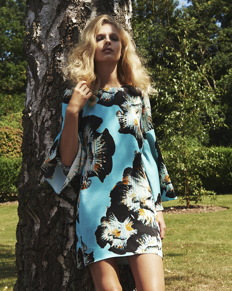 London Palm Collection Designed by London Stylist Ellie Lines Georgie Silk Mini Dress