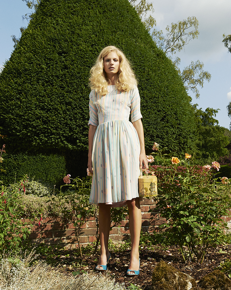 London Palm Collection Designed by London Stylist Ellie Lines Silk Dress
