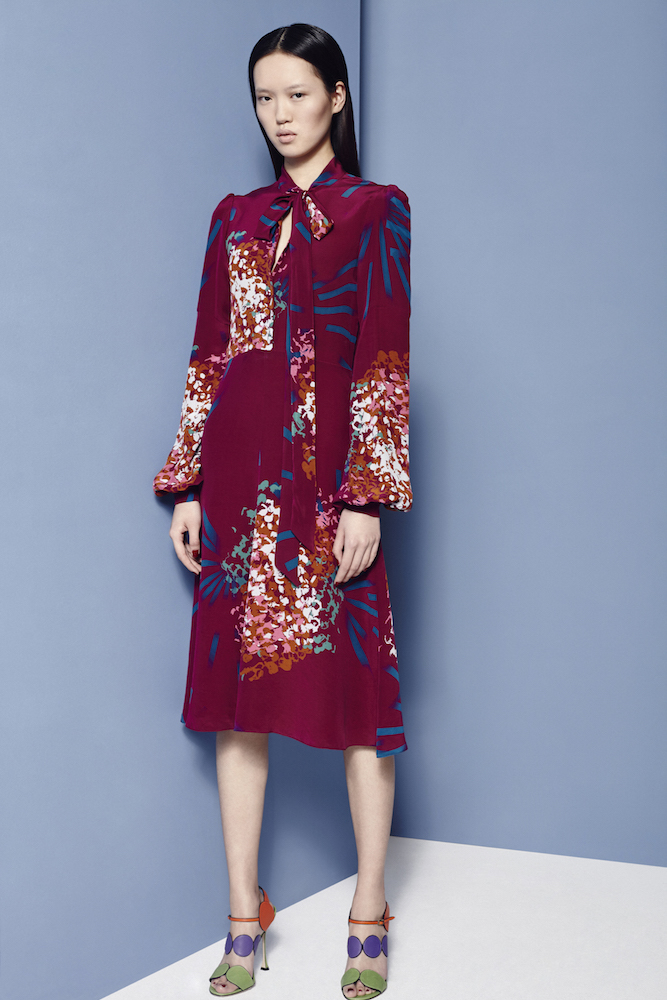 JULIA HYDRAGLOW PRINT DRESS