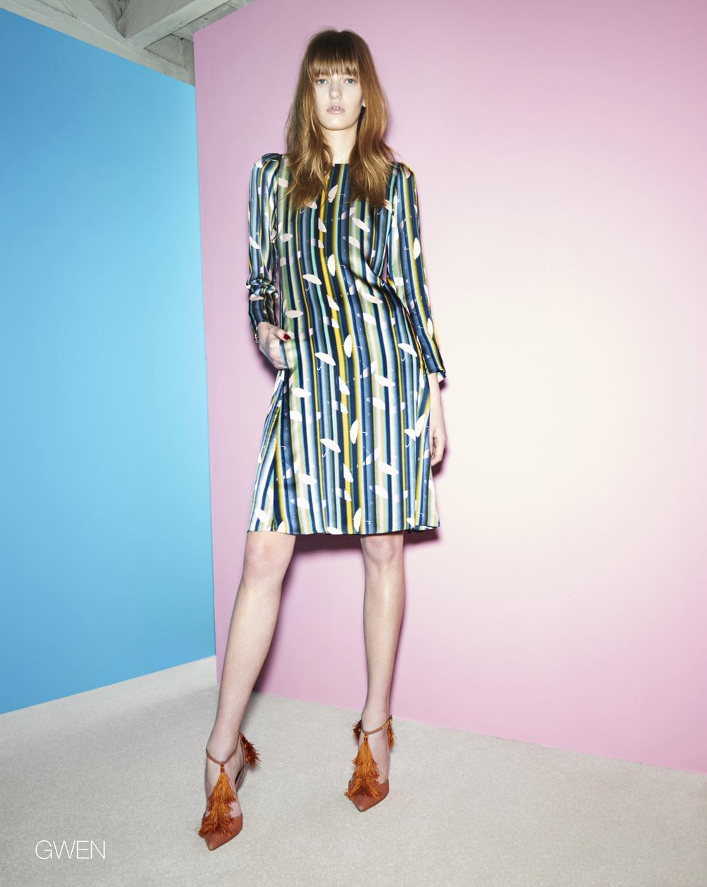 Ellie Lines Gwen silk dress