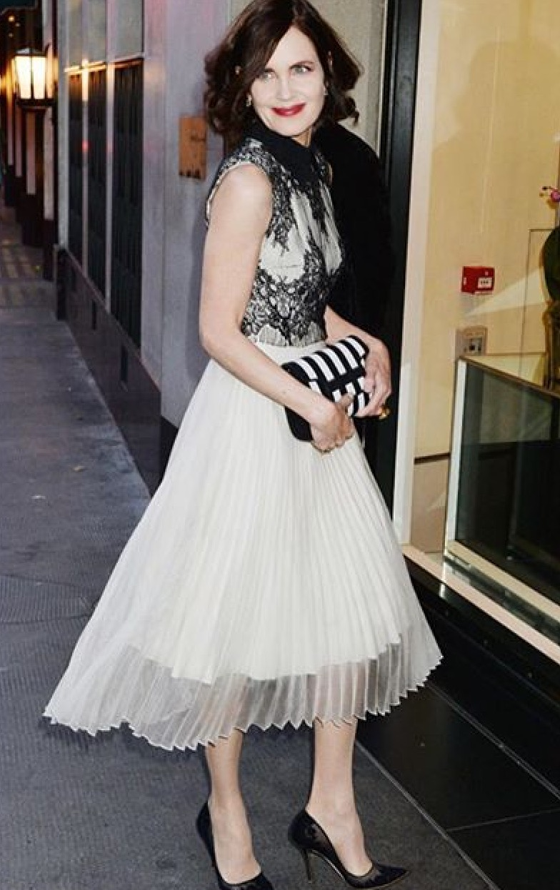 Elizabeth McGovern Styled by London Stylist Ellie Lines