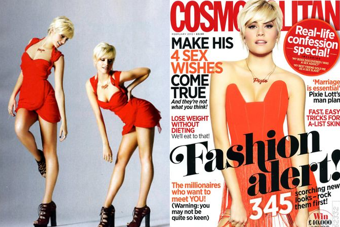 Pixie Lott Styled by Ellie Lines for Cosmopolitan Magazine